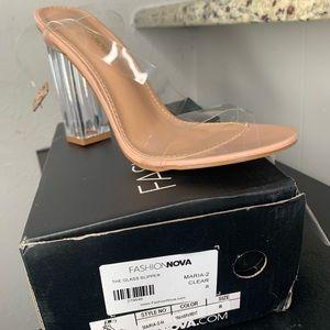 Fashionova transparent heel